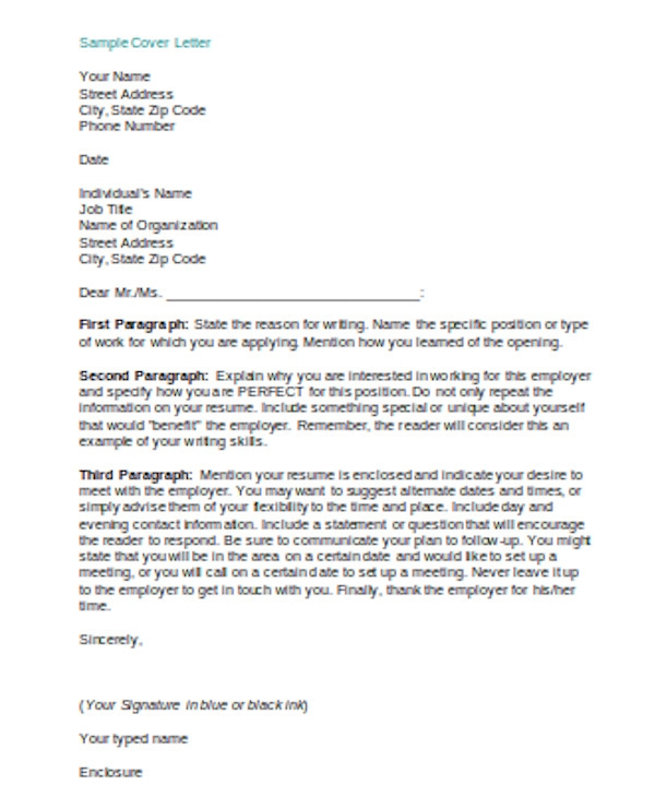 FREE 14+ Sample Example Cover Letters in PDF | MS Word | Excel