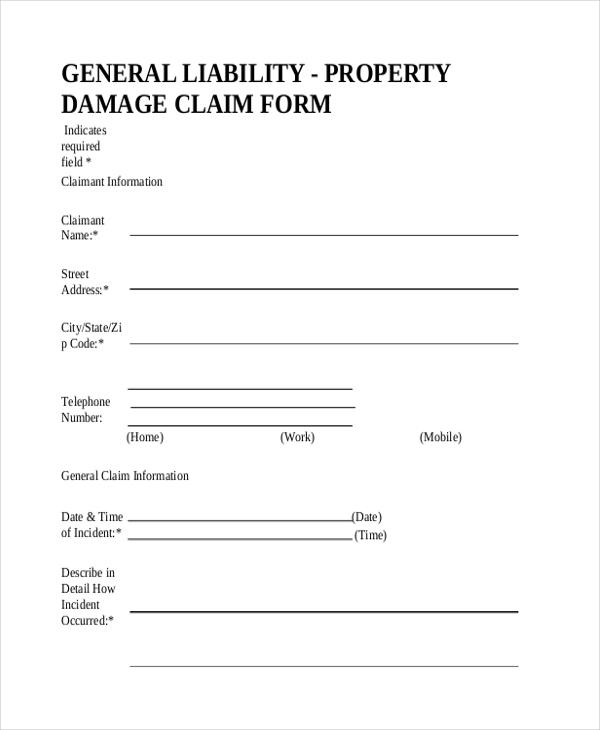 General Liability Form