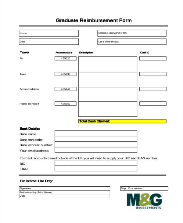 graduate reimbursement form