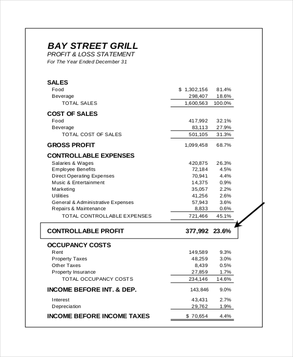 Sample Income Statement Form - 9+ Free Documents In Pdf, Xls