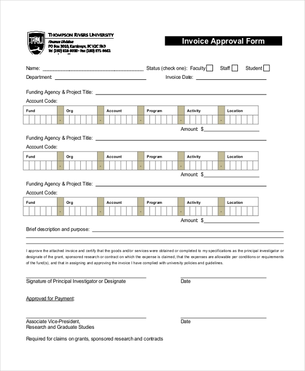 invoice approval form