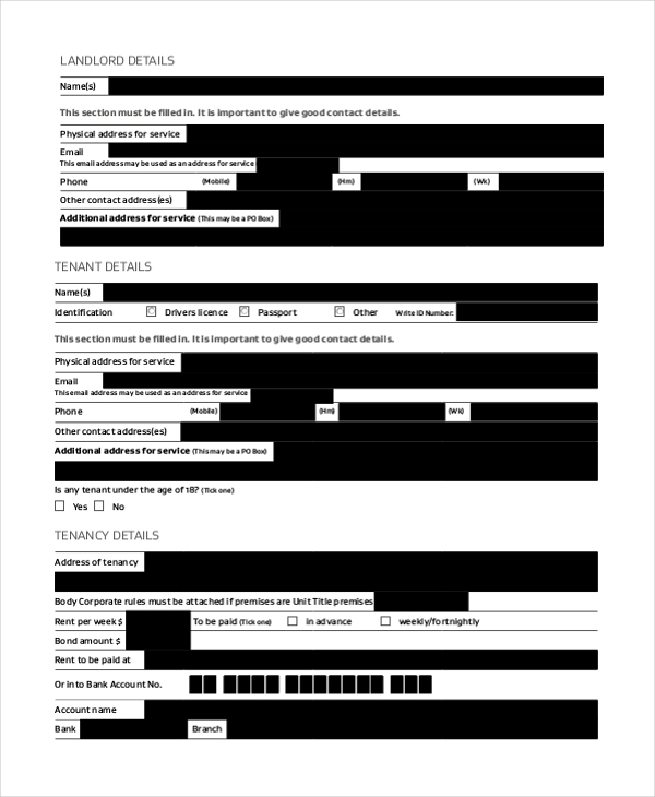 landlord agreement form