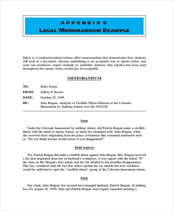 legal memorandum form