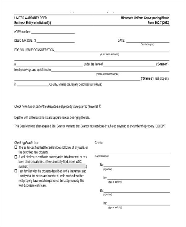 limited warranty deed1