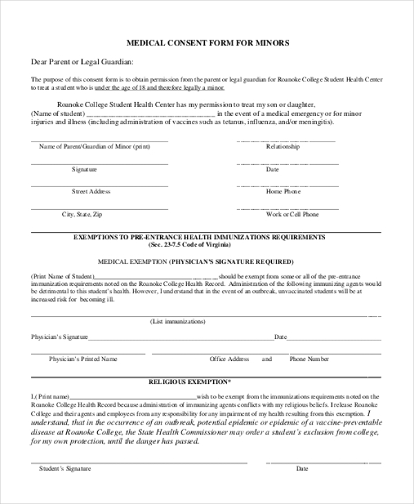 11 Sample Consent Forms – Vaccine Consent Form Template