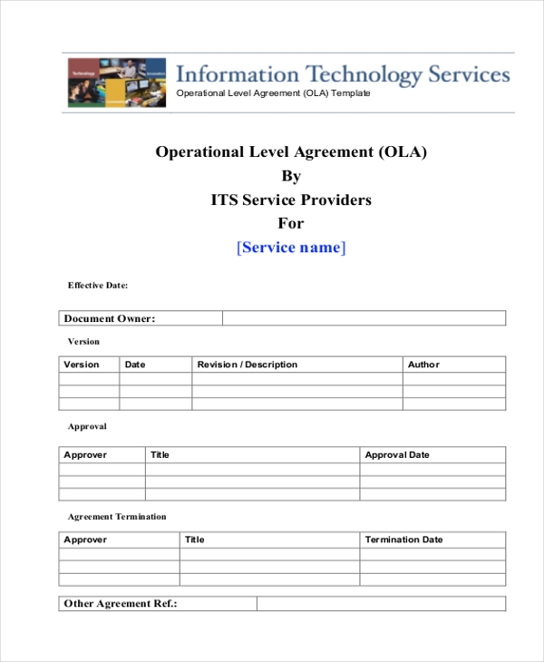 operating level agreement
