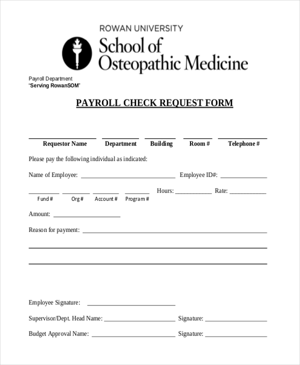 payroll check request form