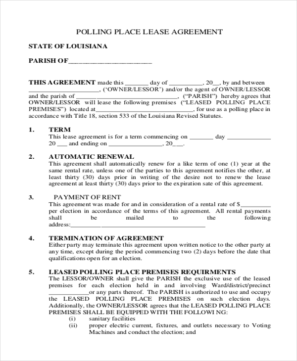 Sample Lease Agreement Form - 11+ Free Documents In Doc, Pdf
