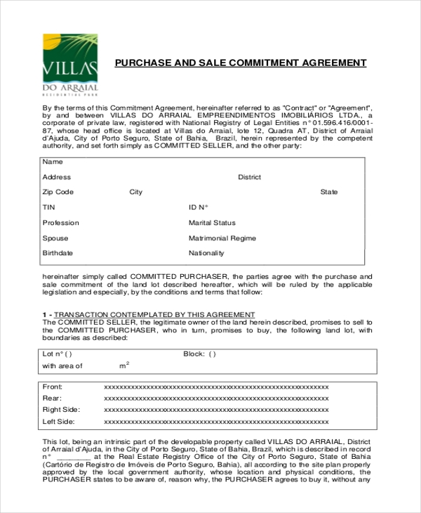 purchase and sale commitment agreement