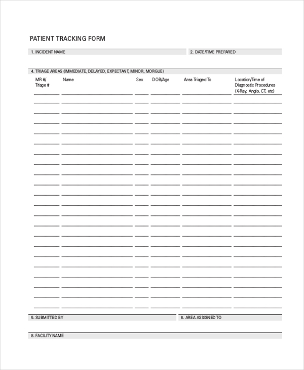 patient tracking template - sample tracking form 20 free documents in doc pdf excel