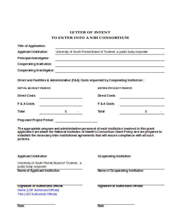 Letter Of Intent To Transfer from images.sampleforms.com