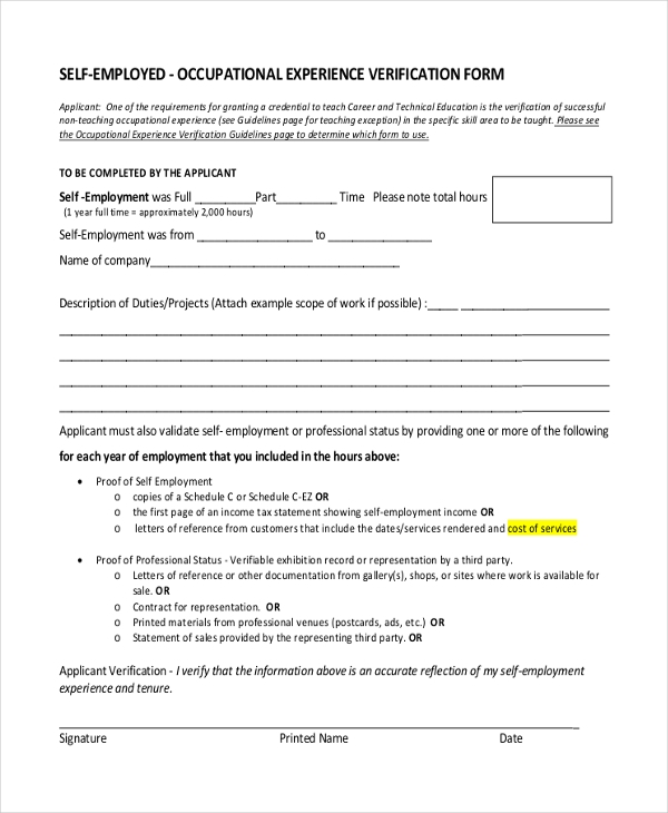 Sample Proof of Employment Letter 10 Sample Documents in PDF Doc – Proof of Employment Form
