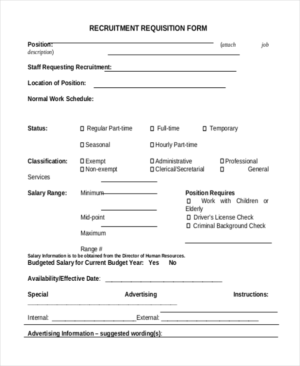 Lovely Sample Requisition Form Free Documents In Doc Pdf Excel