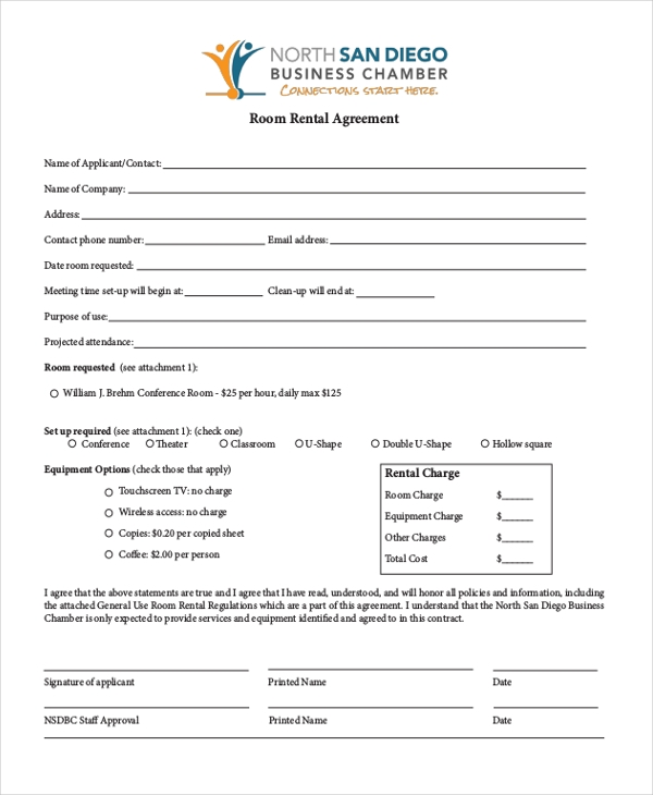 Free Rental Agreement Form Sample   Free Documents In Doc Pdf