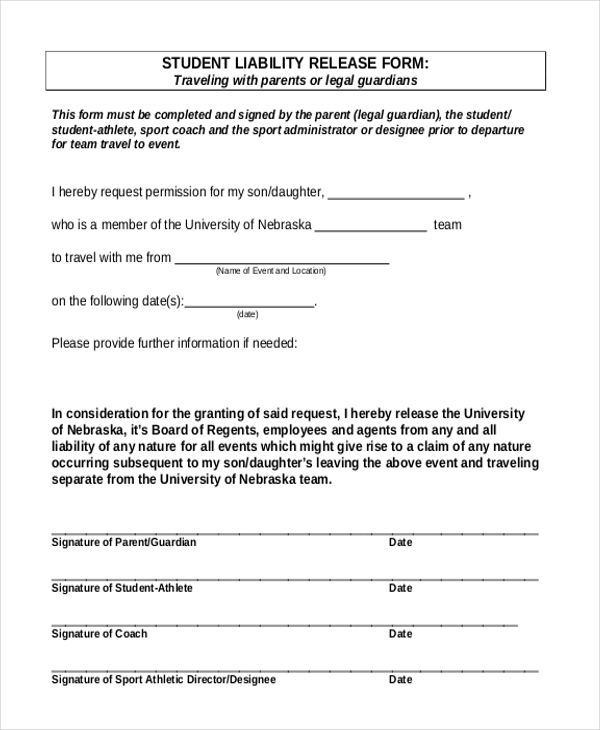 Sample Liability Release Form - 9+ Free Documents In Doc, Pdf