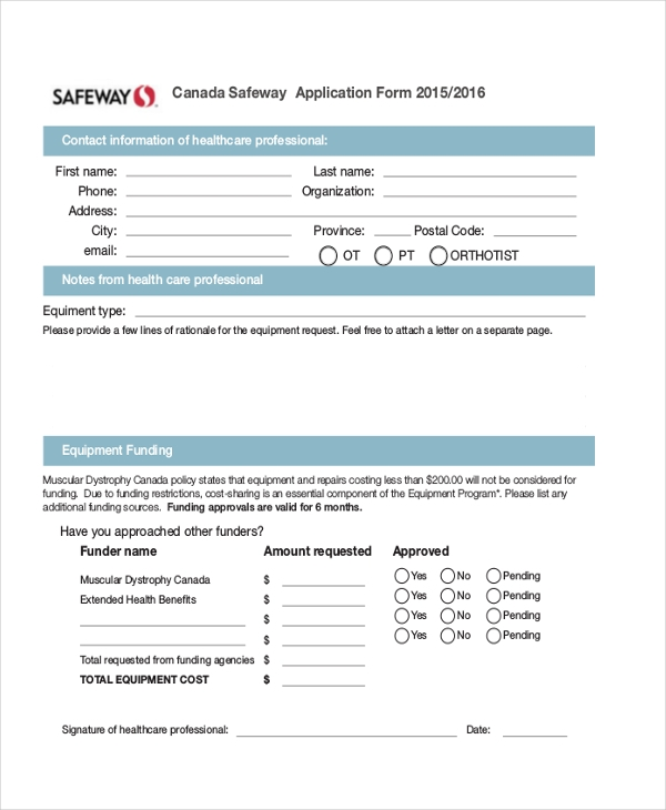 Safeway-Application-Form Job Application Form Safeway on free generic, part time, blank generic,