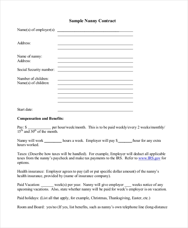 Caregiver Contract Template. financial yst cover letter template ...