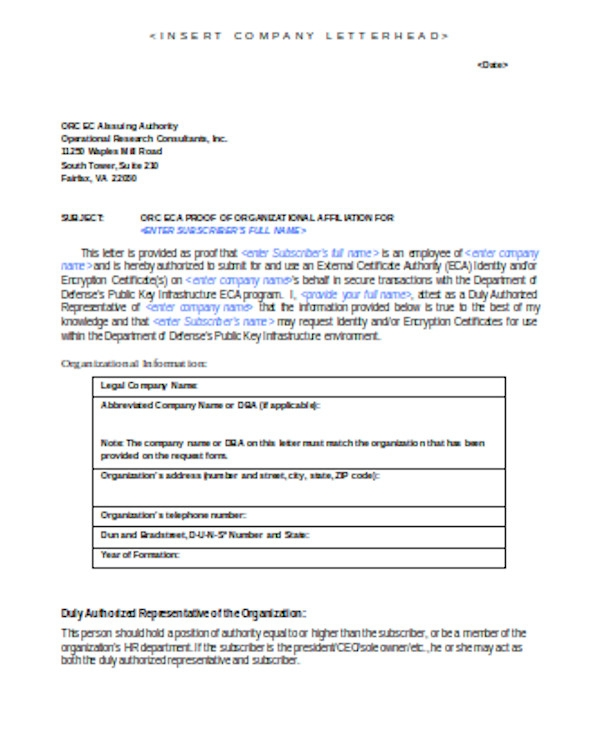 simple employment proof letter