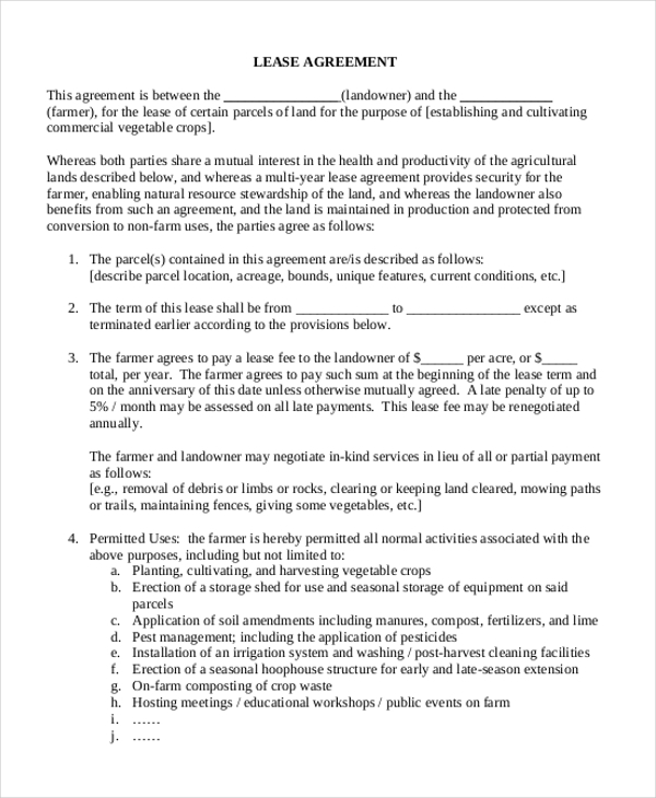 Simple Lease Agreement Form 10 Free Documents In Doc Pdf