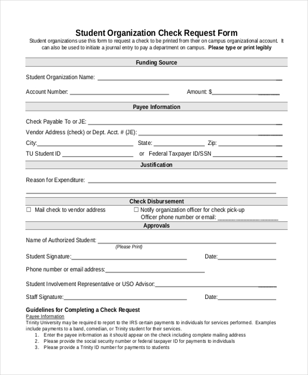 Sample Check Request Form - 10+ Free Documents In Doc, Pdf