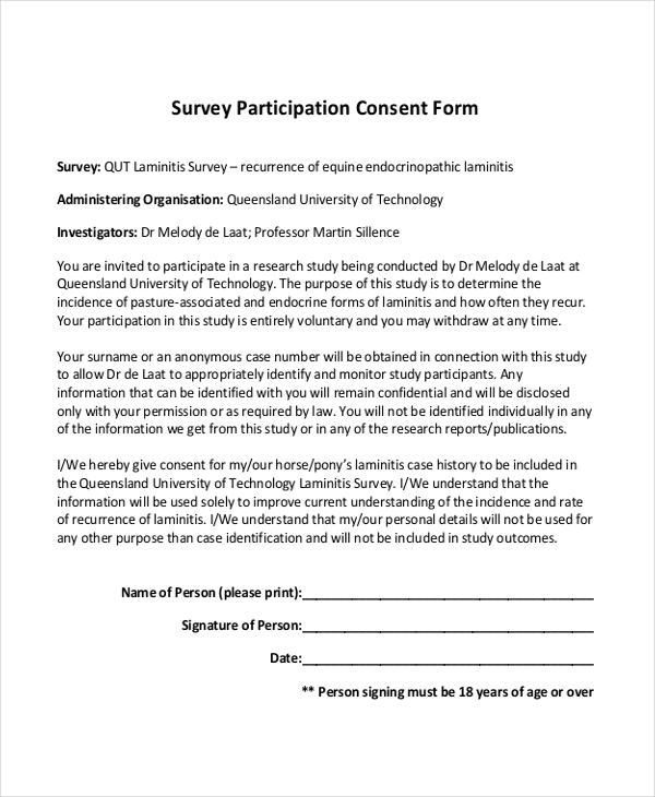 Sample Survey Form 15 Free Documents in PDF – Survey Form Template