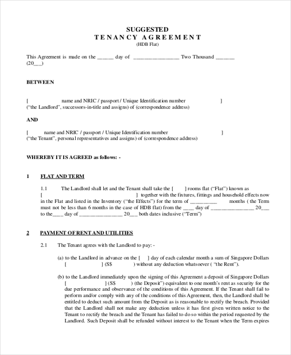 Rental Agreement Form 11 Free Documents in word PDF – Landlord Agreement Template
