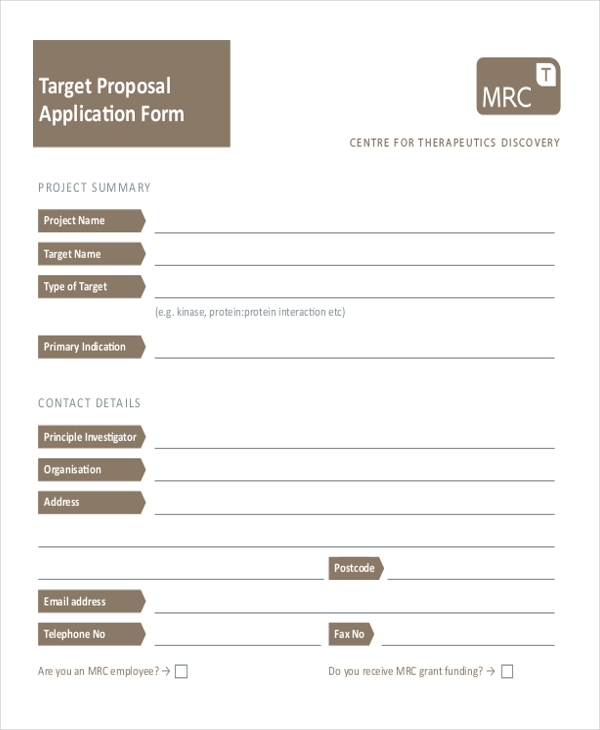 Sample Target Application Form - 9+ Free Documents In Doc, Pdf
