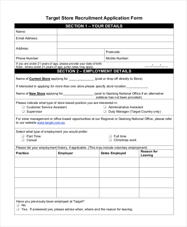 sle target application form 9 free documents in doc pdf