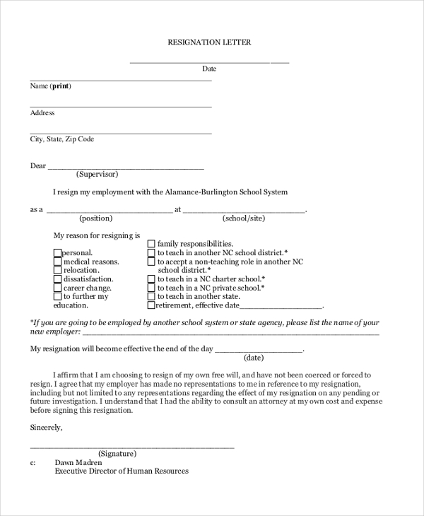 Sample Letter Of Resignation - 9+ Free Documents In Pdf, Doc