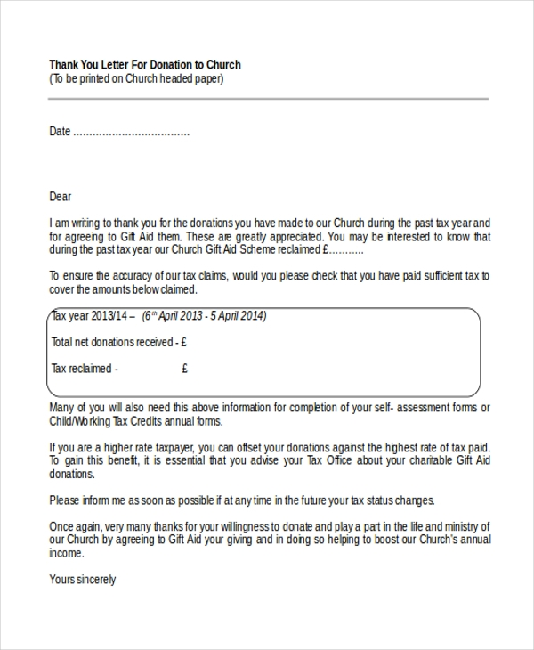 donation letter template - fingradio.tk