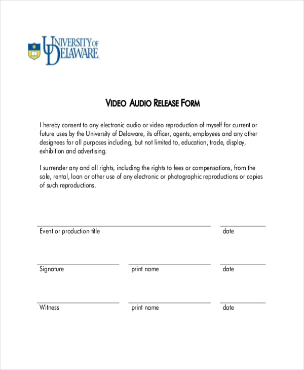 Sample Video Release Form - 11+ Free Documents In Doc, Pdf