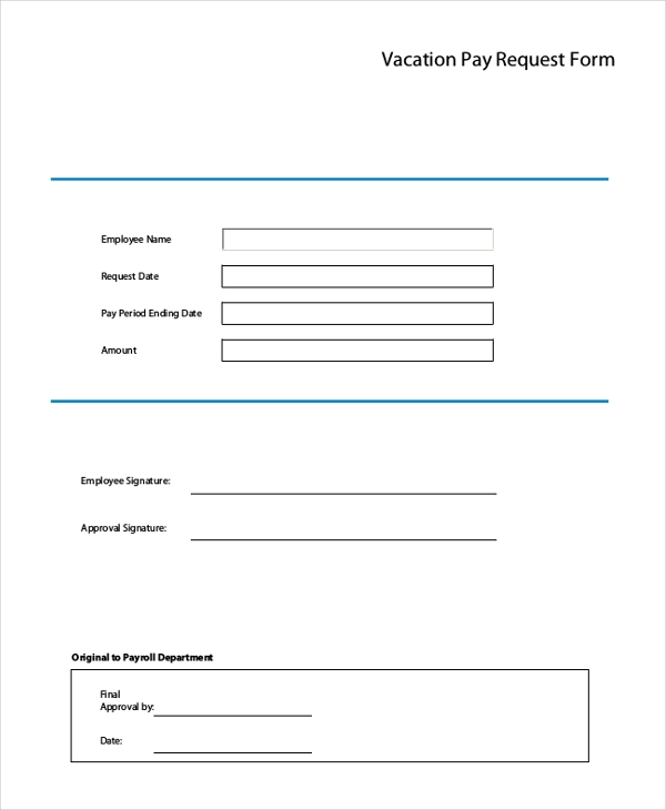 Sample Vacation Request Form 11 Free Documents in Doc PDF – Request off Form