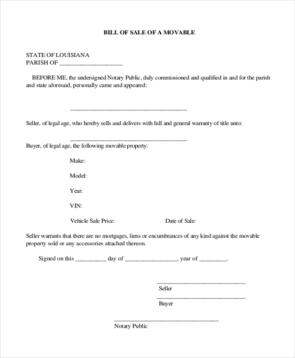 Colorado Vehicle Bill Of Sale: Sample Car Bill Of Sale Forms