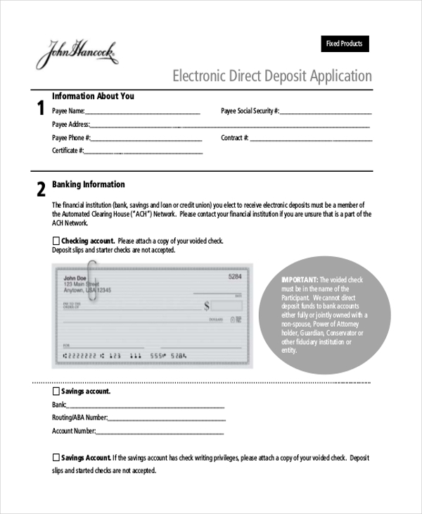 how to get direct depost form