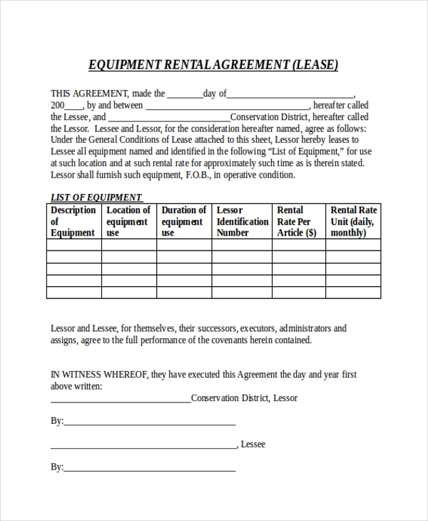 Sample Month To Month Rental Agreement Form - 8+ Free Documents In