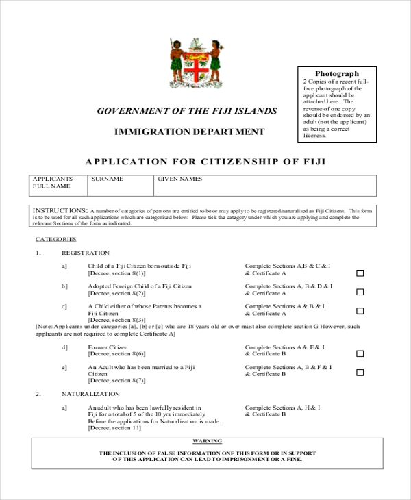 application for citizenship of fiji