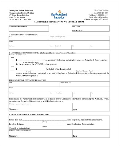 authorized representative consent form1