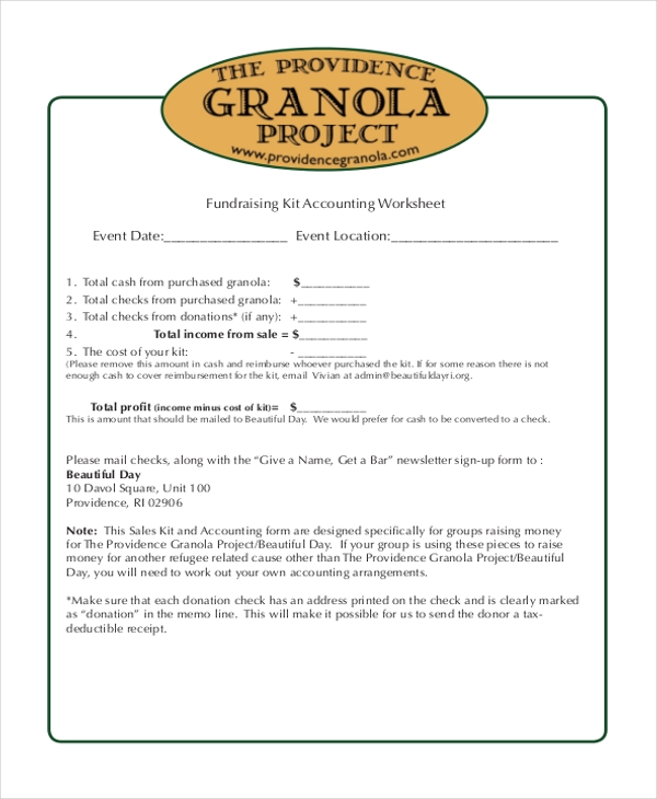 9 Sample Blank Accounting Forms Free Sample Example Format – Blank Accounting Worksheet