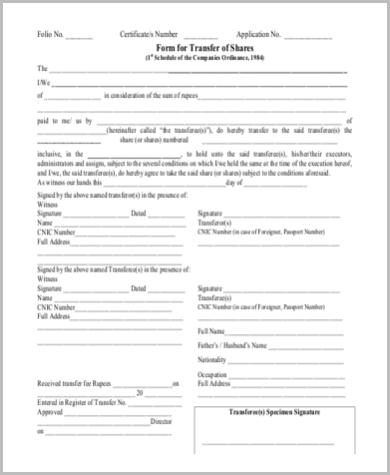 FREE 8+ Sample Deed Transfer Form in WORD | PDF
