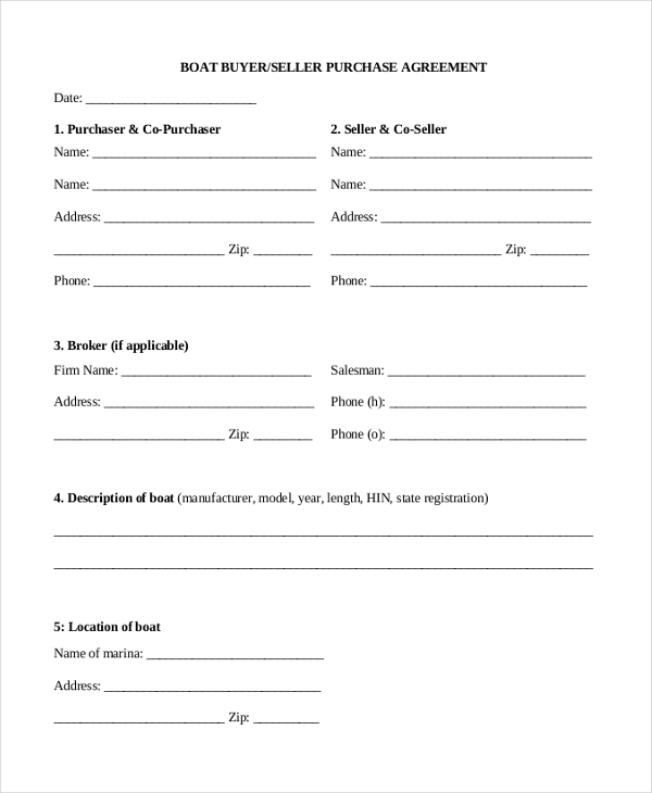 Sample Sales Agreement Form   Free Documents In  Doc