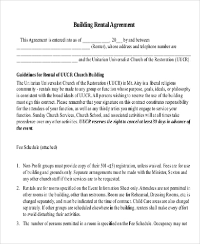 building rental agreement