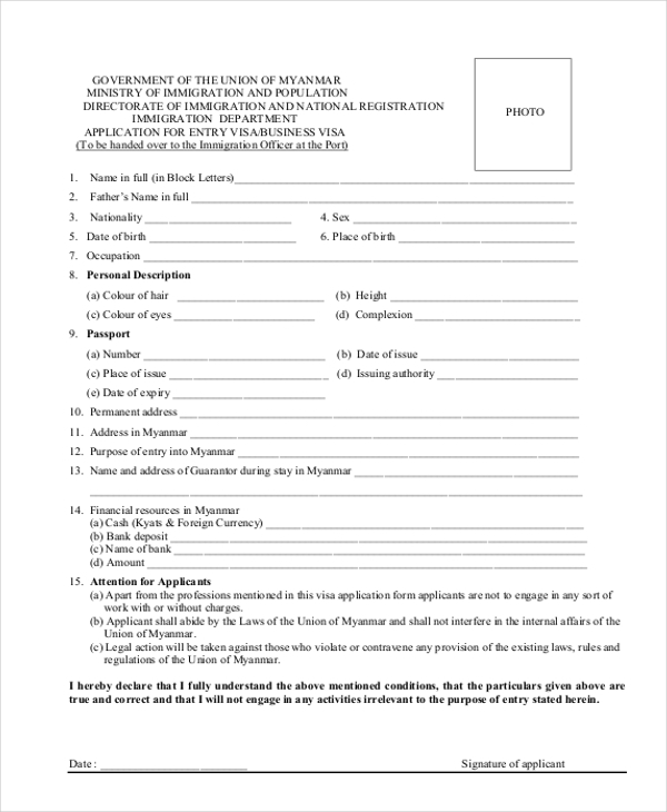 Bahamas Immigration Card Pdf