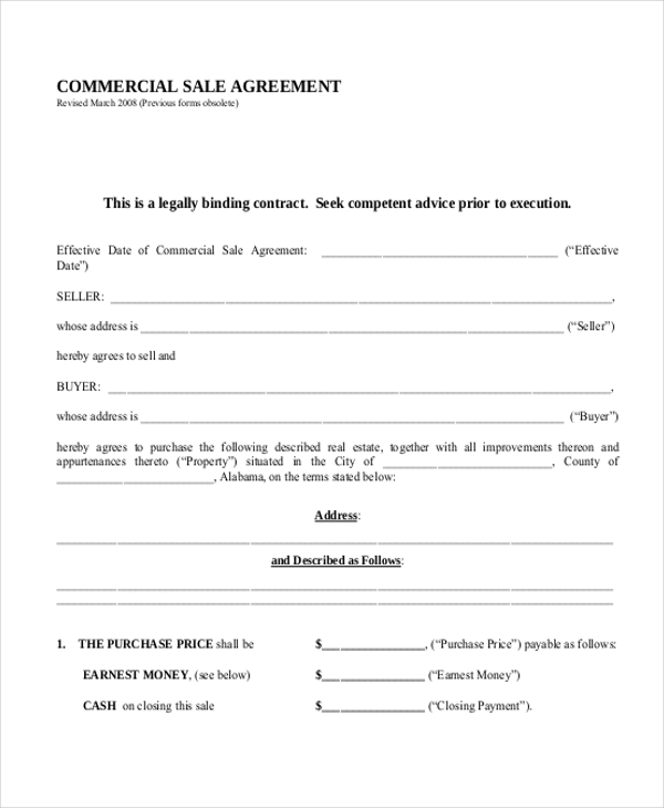 commercial sale agreement1