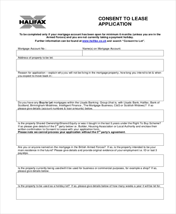 consent lease application