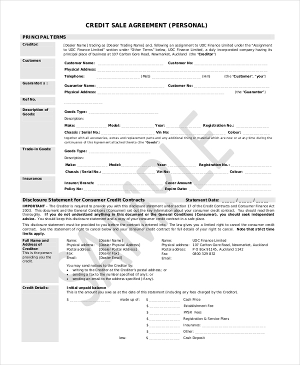 10 Sample Sales Agreement Forms Free Sample Example Format – Sample Sales Agreement