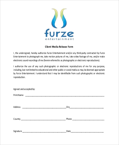 Media Release Form  WowcircleTk