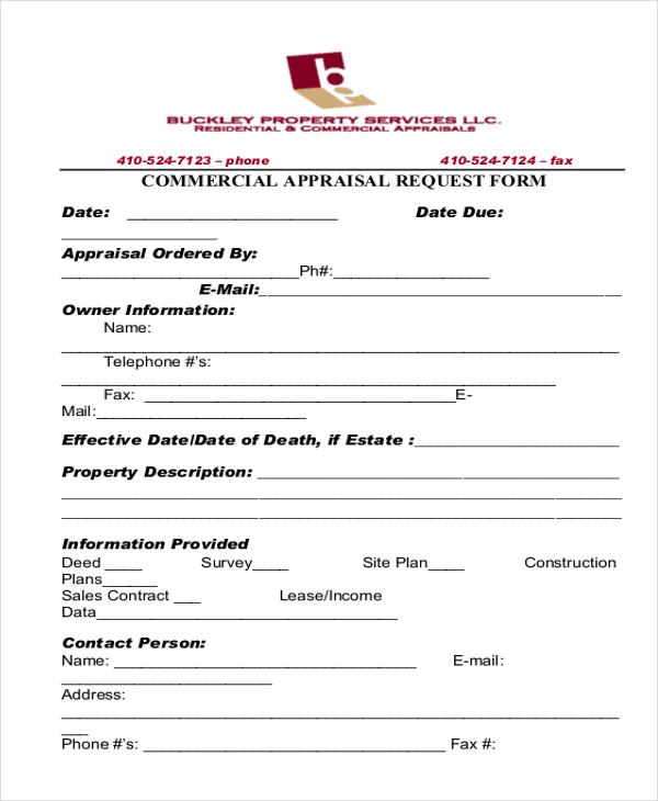 commercial appraisal request form1