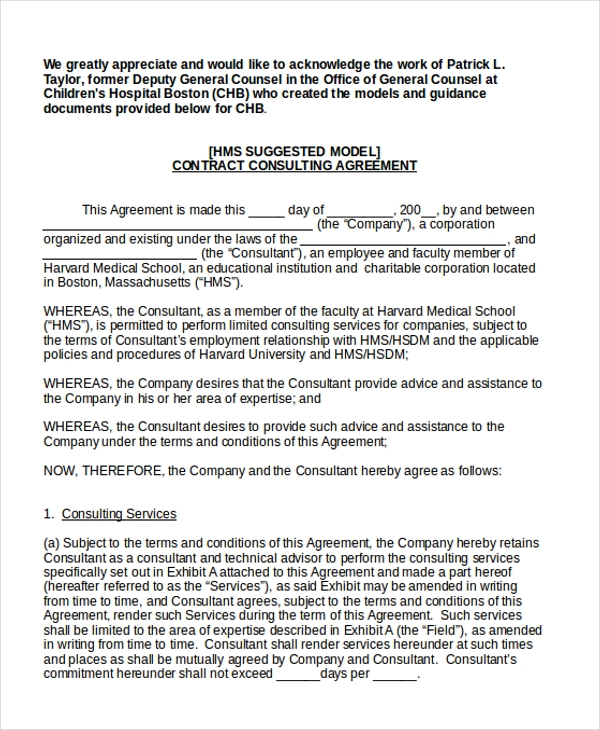 Sample Consulting Agreement Form 9 Free Documents in Doc PDF – Sample Cohabitation Agreement Template
