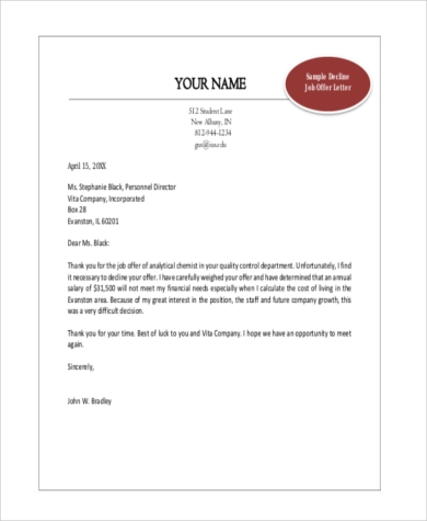 Offer Letter Sample In Word Format from images.sampleforms.com