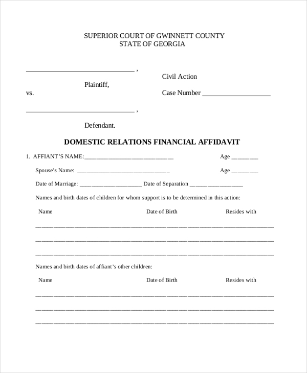 domestic relations financial affidavit1